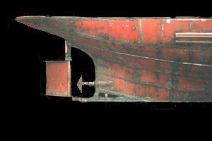 Zo mooi zijn de lijnen van deze oude rondvaarboot de Hilda. Restauratie rondvaartboot