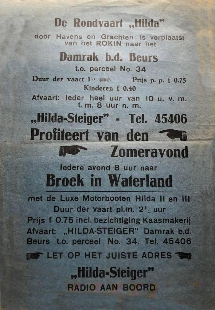 Rondvaart vanaf Damrak  te Amsterdam